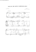 Killing Me Softly With His Song - Charles Fox - PDF Piano Sheet Music Free